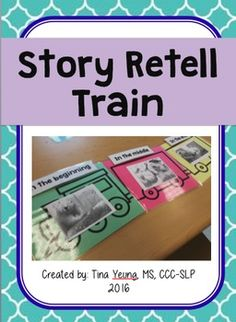 Story retell prompt in the form of a train. Teach beginning-middle-end and sequencing!