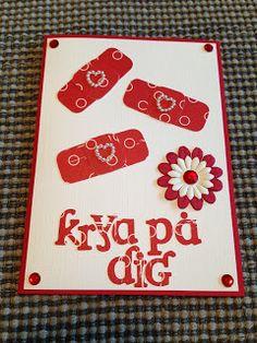 Randis hobbyverden: God bedrings kort med plaster i hvitt og rödt