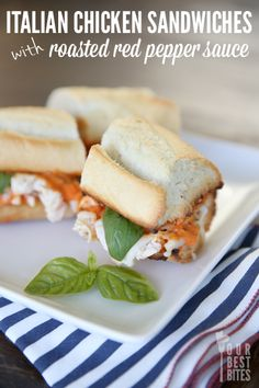 Quick and Easy Italian Sandwiches, makes a great summer dinner!