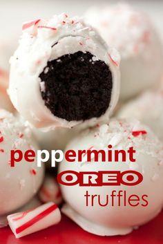 peppermint oreo truffles..