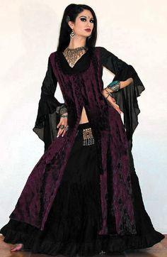 Tribal Gypsy Velvet Ghawazee Coat.