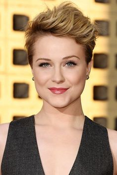 Pixie Cropped.  Different color, but I like the almost pompadour style.