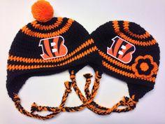 Cincinnati Bengals Crochet Hat on Etsy, $20.00