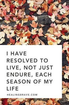 20 Quotes about Embracing All the Seasons of Life – Healing Brave Live Your Life, This Is Your Life, Change Your Life, Life Quotes To Live By, Change Quotes, New Life, Healing Affirmations, Morning Affirmations, Positive Affirmations