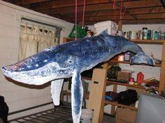 paper mache humpback whale