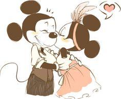 vintage Mickey & Minnie <3