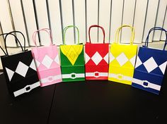 12 Mighty Morphin Power Rangers Inspired Goody Bags