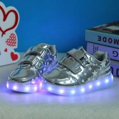 95a73e857d6a0 USB Charging Kids Basket Luminous Sneaker Glowing Children Shoes With Led  Light Up Casual Shoes For Boy Girls Sneakers Enfant