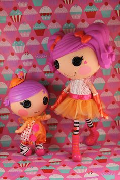 Peanut Big Top #Lalaloopsy #doll and her little sister Squirt Lil' Top.