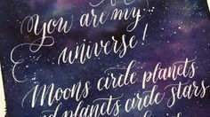 How to paint a galaxy with ecoline tutorial by @lililettering on Instagram