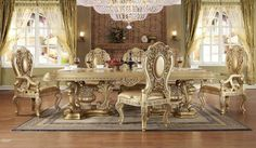 Marie Claire Formal Dining Room Set