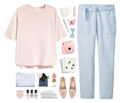 """""""nothing's gonna hurt me with my eyes shut"""" by intanology ❤ liked on Polyvore featuring Uniqlo, H&M, River Island, Cynthia Rowley, Maison Scotch, Polaroid, Crate and Barrel, Deborah Lippmann, Too Faced Cosmetics and iittala"""