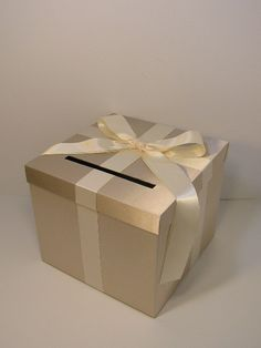 Wedding card box burgundy and silver gift card box money box champagne and ivory wedding card box gift card box money box holder customize your solutioingenieria Gallery