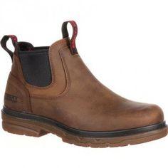 Rocky Men's Elements Shale Waterproof Work Boot – Round Non-Safety Toe - RKK0157 Profile