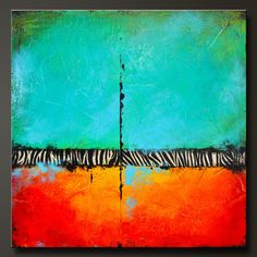 love this for bedroom... In The Wild  24 x 24  Abstract Acrylic by CharlensAbstracts, $300.00
