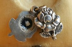 Antique French Saint Rita of Cascia Rose Floral Reliquary Pendant Relic by PinyolBoiVintage on Etsy