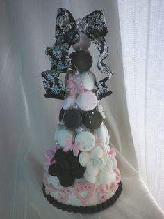 Macaron Tower, Macarons, Cake, Desserts, Tailgate Desserts, Deserts, Kuchen, Macaroons, Postres