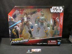 Hasbro Han Solo (tm) & Boba Fett (tm) Hero Mashers Disney Star Wars action figures
