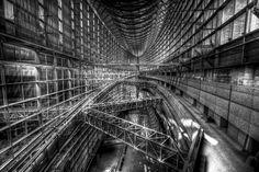 Shot of the inside of the Tokyo International Forum from the top floor, Yurakucho, Tokyo.