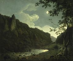 Joseph Wright of Derby (1734–1797), Dovedale by Moonlight, 1784