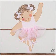 Cuadro Niña Ballet 002 Rosa y Crema