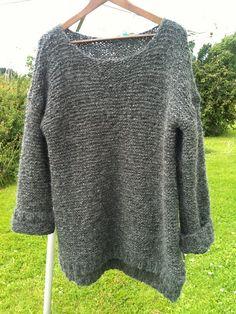 """Skappelgenseren"" pattern by Dorthe Skappel Easy Sweater Knitting Patterns, Knit Patterns, Free Knitting, Crochet Quilt, Knit Crochet, Knit Wrap Pattern, Free Pattern, Big Knits, Knitting Accessories"