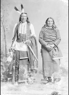 Ponca Indians: Standing Bear (right) and White Eagle. Creator: Charles Milton Bell. National Anthropological Archives, Smithsonian Institution