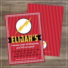 Birthday Party // The Flash // Customizable // DIGITAL FILE // $12.00 // by Amanda Franks Designs on Etsy