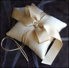 Nice and Simple Ivory Caramel Ring Pillow Wedding by EmiciBridal, $80.00