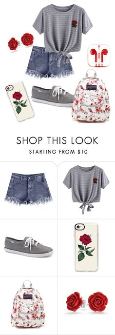 """Random outfit #105"" by rye-claw ❤ liked on Polyvore featuring WithChic, Keds, Casetify, JanSport, Bling Jewelry and PhunkeeTree"