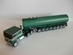Lorry Papercraft | MACK Super Liner &Wilson trailer papercraft 1:100 | FDS model Cars ...