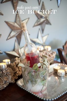 DIY Ice Bucket // by Kim Fisher photo by Anne Liles Photography
