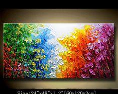 Pintura abstracta de la pared espátula pintura abstracta | Etsy