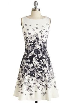 Established Elegance Dress. You set the standard for dignity and charm in this white A-line! #modcloth
