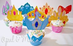 Princess Cupcake Toppers and  Wrappers