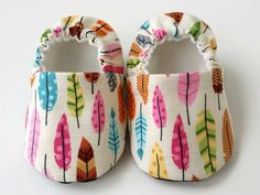 Copy of Baby Shoes - Colorful Feather