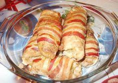 Savanyú káposztával töltött karaj baconba tekerve