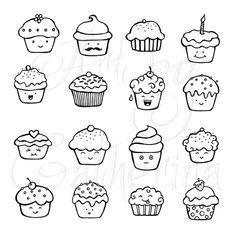 cute cupcake doodles More