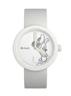 O clock minnie con cinturino bianco