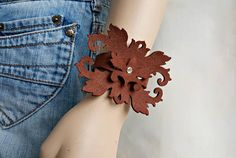 Hey, I found this really awesome Etsy listing at https://www.etsy.com/listing/205133694/leather-cuff-bracelet-for-women-brown