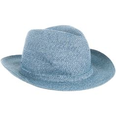 74df4448 Pre-owned Borsalino Woven Fedora Hat ($75) ❤ liked on Polyvore featuring  men's