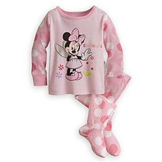 Disney Minnie Mouse Footed PJ Pal for Baby | Disney StoreMinnie Mouse Footed PJ Pal for Baby - Minnie waves a parting ''Goodnight'' on this footed PJ Pal for baby. With her metallic silver foil wings, she prepares to fly off to dreamland, where your own tired toddler will be happy to join her.