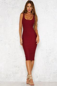 Jessica Rose Midi Dress Wine