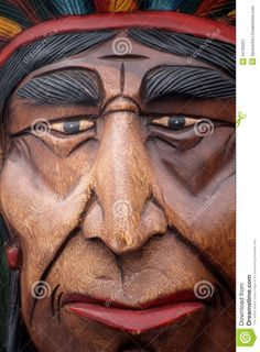 cigar store indian faces