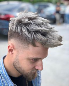 25 best hair color ideas for men in 2019 мужская мода haircuts for men, men Mens Hair Colour, Cool Hair Color, Best Short Haircuts, Haircuts For Men, Men's Haircuts, Mens Medium Length Hairstyles, Cool Hairstyles, Pelo Color Ceniza, Hair And Beard Styles