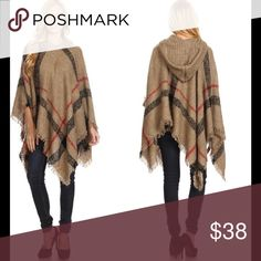 Hooded poncho Description to come soon. Sweaters Shrugs & Ponchos