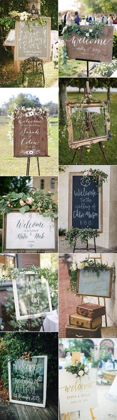 20 Brilliant Wedding Welcome Sign Ideas for Ceremony and Reception rustic vintage wedding sign decor Fall Wedding, Diy Wedding, Rustic Wedding, Wedding Flowers, Trendy Wedding, Wedding Ideas, Wedding Navy, Floral Wedding, Wedding Themes