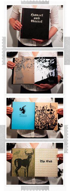 Hänsel and Gretel paper cut book by Sybille Schenker