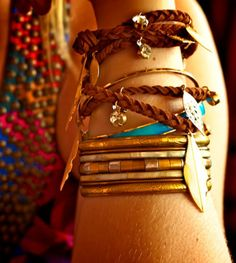 Neat leather braided bracelets and cool bangles. Bohemian Bracelets, Cute Bracelets, Braided Bracelets, Bangles, Layered Bracelets, Leather Bracelets, Bangle Bracelets, Cheap Bracelets, Pandora Bracelets