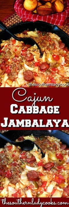 Cajun cabbage jambalaya is a skillet meal you will make over and over again. My family loves cabbage and this Cajun cabbage is one of their favorites. I made this in a ten inch iron …